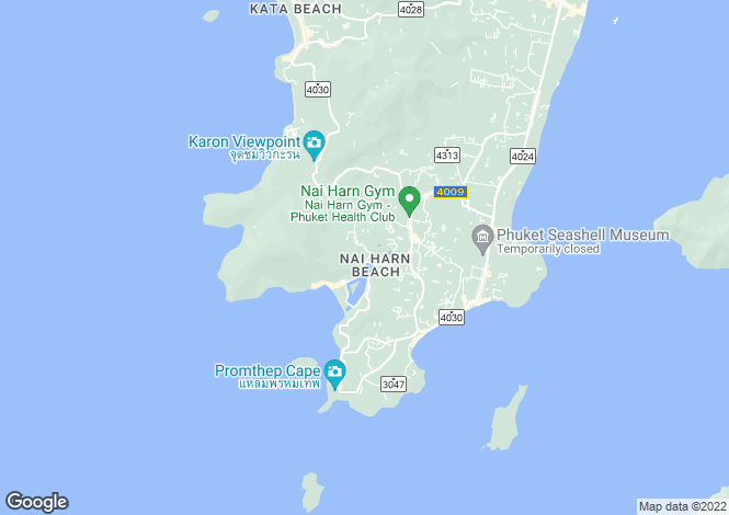 Map for Naiharn, Phuket