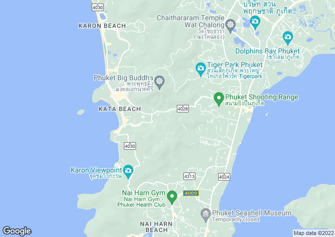 Map for Karon, Phuket