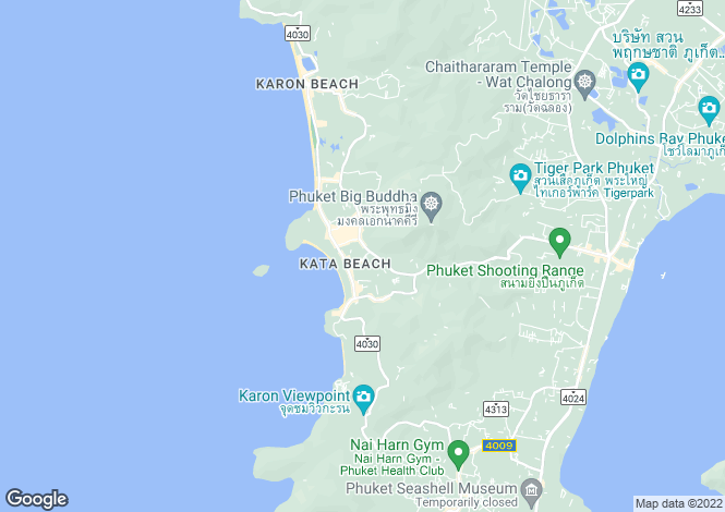 Map for Kata, Phuket
