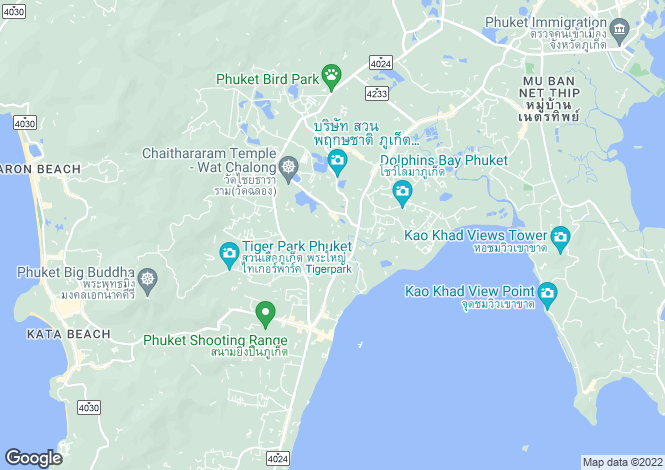 Map for Chalong, Phuket