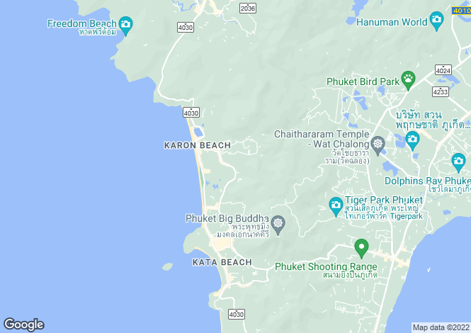 Map for Karon, Phuket