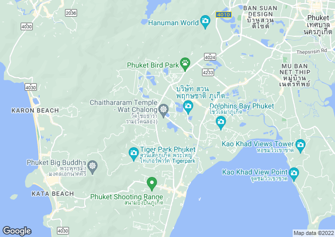 Map for Phuket, Chalong