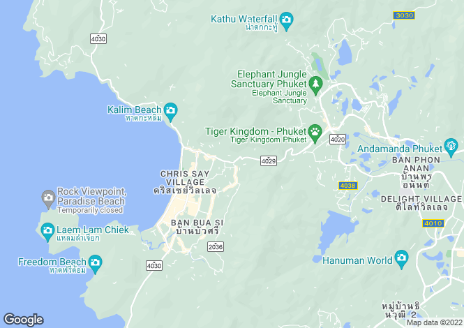 Map for Pa Tong, Phuket