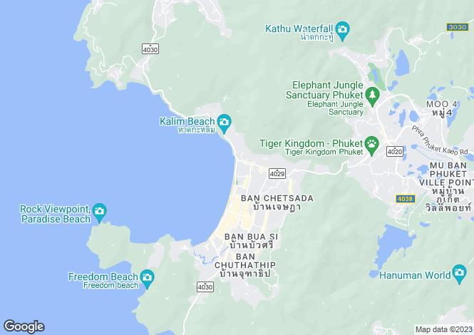 Map for Phuket, Pa Tong
