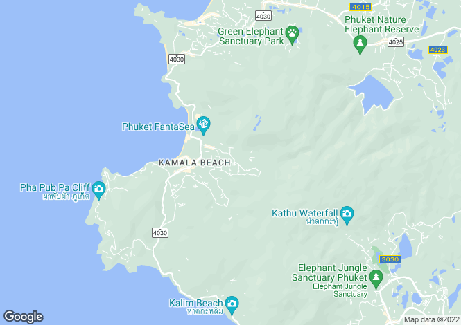 Map for Kamala, Phuket