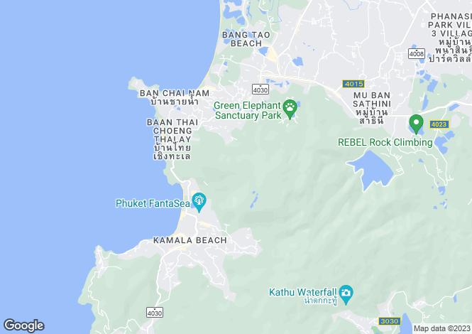 Map for Surin, Phuket
