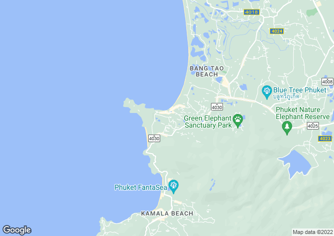 Map for Bangtao, Phuket