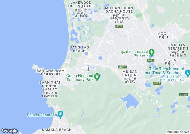 Map for Bangtao, Phuket