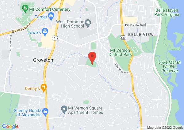 Map of 7000 Canterbury Lane, Alexandria, VA, United States