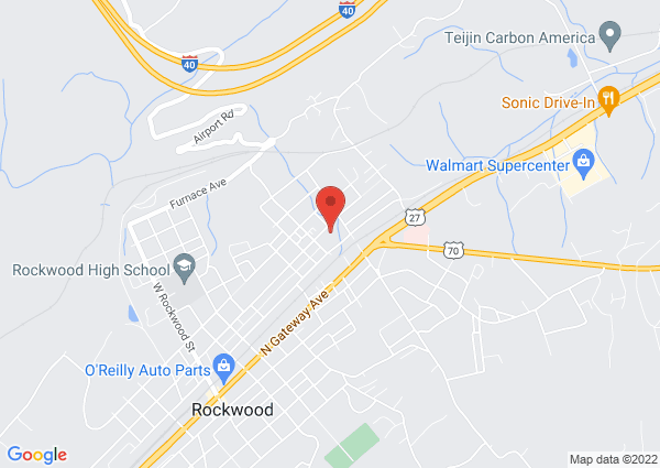 Map of 710 North Chamberlain Avenue, Rockwood, TN, USA