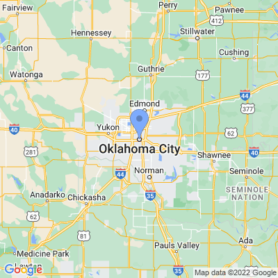 Map of truck driving jobs in Oklahoma City, Oklahoma