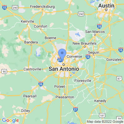 Map of truck driving jobs in San Antonio, Texas