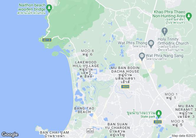Map for Laguna, Phuket