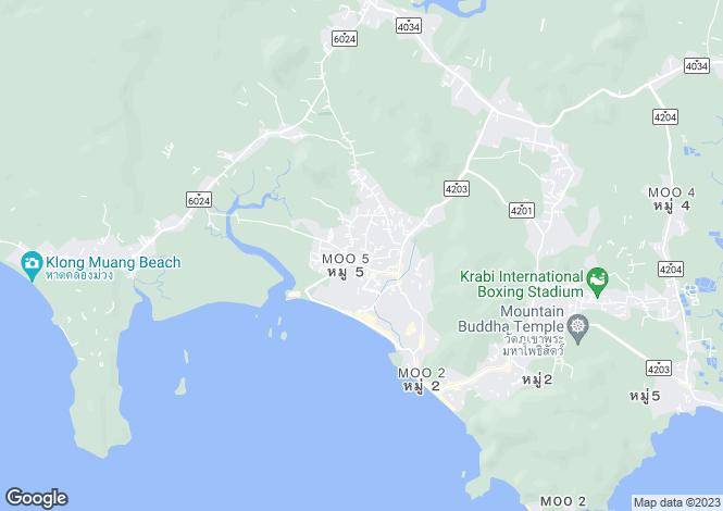 Map for Ao Nang, Krabi, Thailand