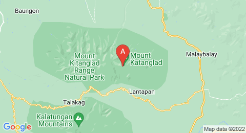 map of Mount Dulang-dulang (Philippines)