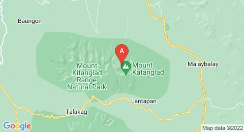 map of Mount Kitanglad (Philippines)