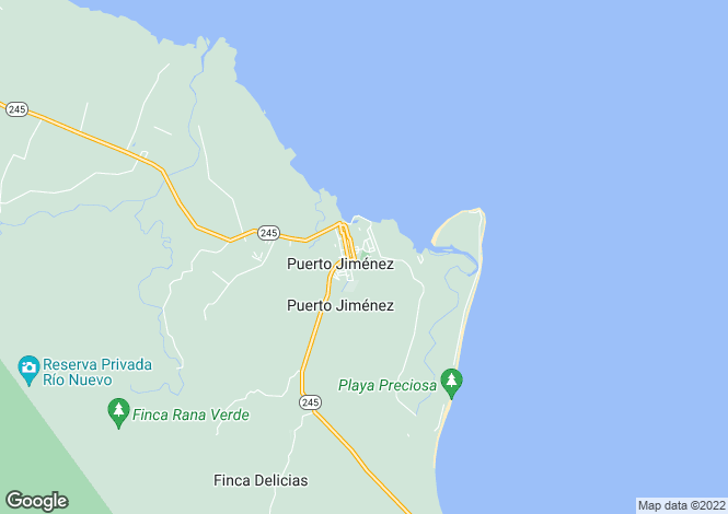 Map for Puerto Jimenez