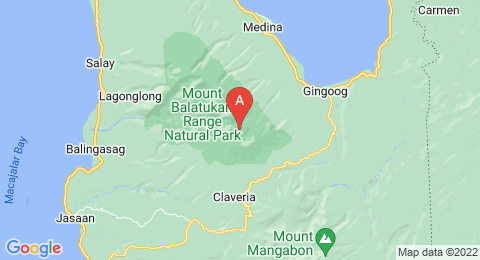 map of Mount Balatukan (Philippines)