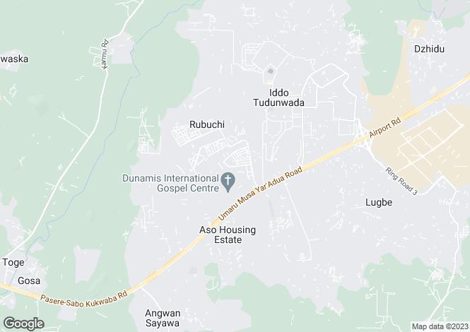 Map for Abuja, Federal Capital Territory