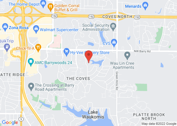 Map of 8221 N Overland Dr, KCMO, MO, United States