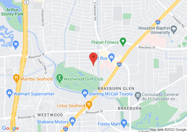 Map of 8307 Augustine Dr, Houston, TX 77036, United States