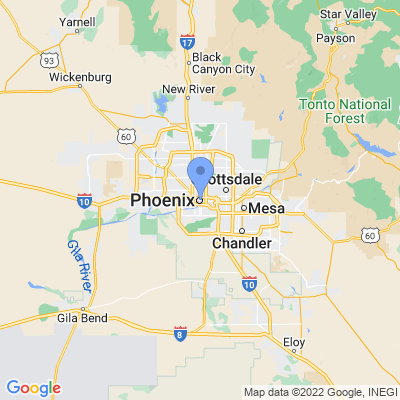 Map of truck driving jobs in Phoenix, Arizona
