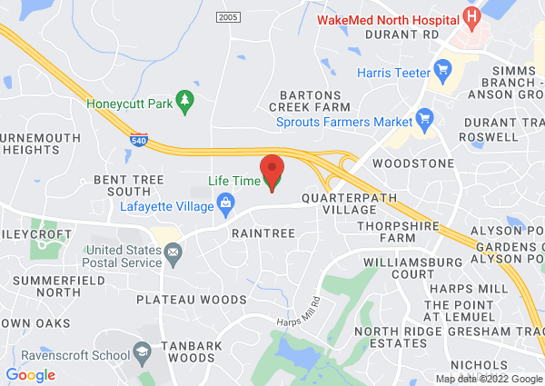 Map of 8515 Falls of Neuse Road, Raleigh, NC 27615, USA