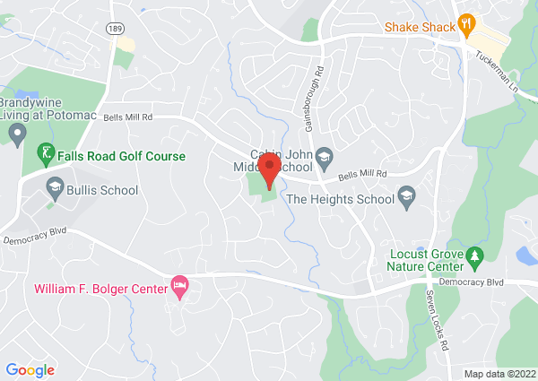 Map of 8650 Bells Mill Road, Potomac, MD, USA