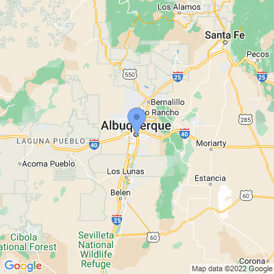Map of truck driving jobs in Albuquerque, New Mexico