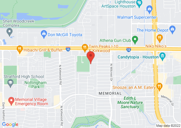 Map of 880 Yorkchester Dr, Houston, TX 77079, United States
