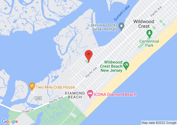 Map of 8800 New Jersey Avenue, Wildwood, NJ, United States