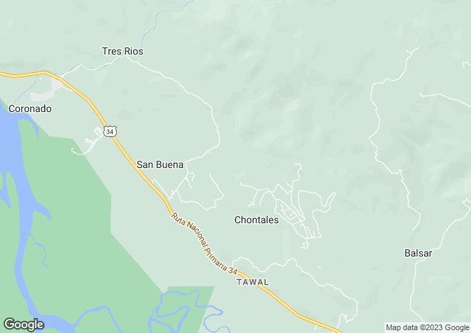 Map for Coronado, Costa Rica