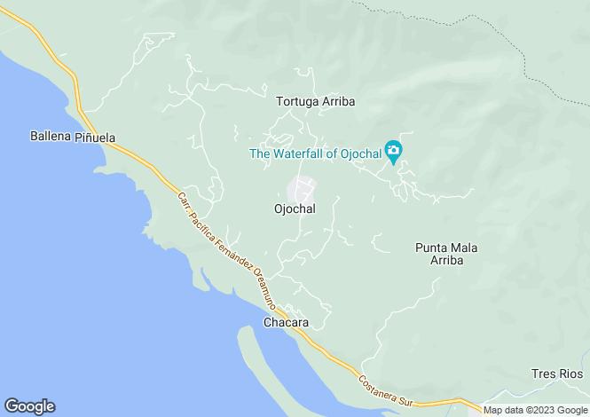 Map for Ojochal, Costa Rica