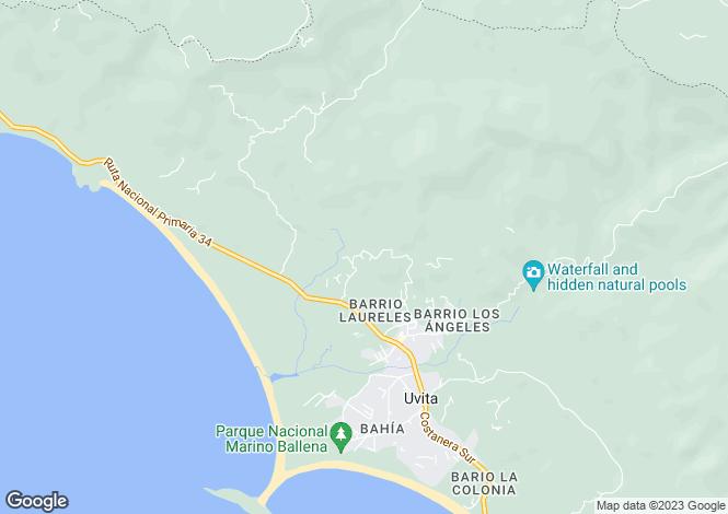 Map for Uvita, Costa Rica