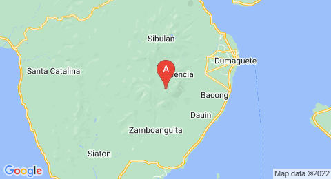 map of Mount Talinis (Philippines)