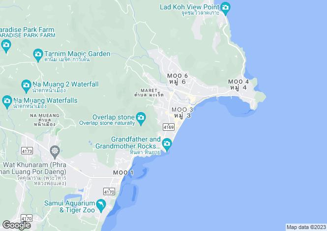 Map for Lamai, Samui, Thailand