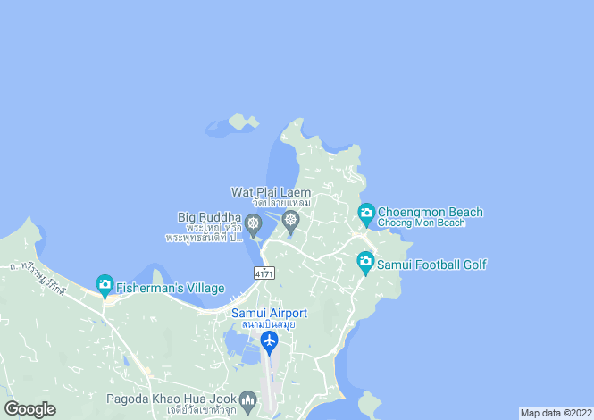 Map for Koh Samui