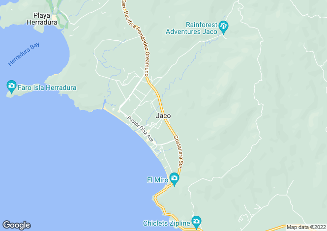 Map for Jaco, Costa Rica