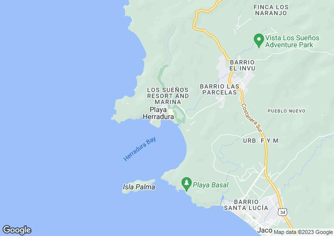 Map for Puntarenas