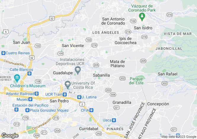 Map for San José