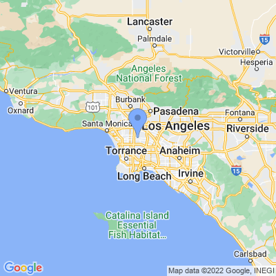 Map of truck driving jobs in Los Angeles, California