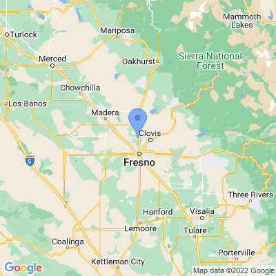Map of truck driving jobs in Fresno, California