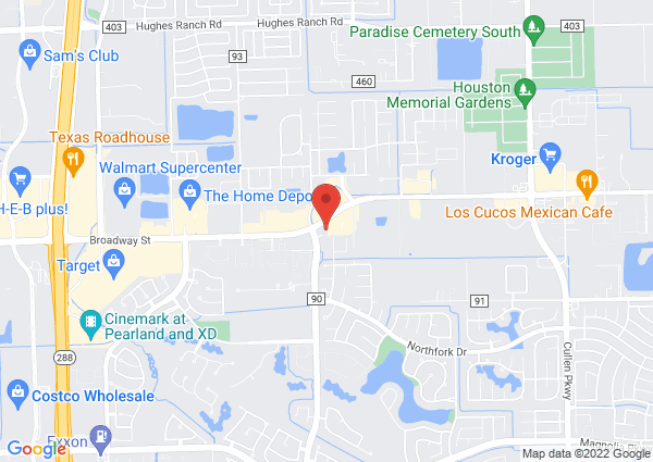 Map of 9430 Broadway street, Pearland, TX, United States