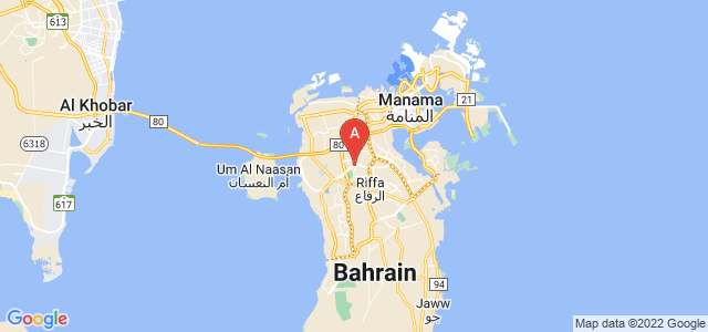 map of A'ali, Bahrain