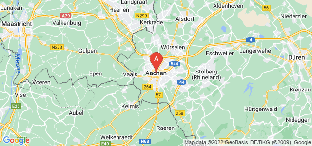 map of Aachen, Germany