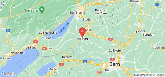 map of Aarberg, Switzerland