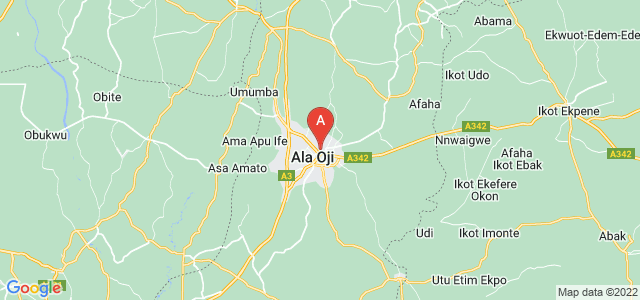 map of Aba, Nigeria