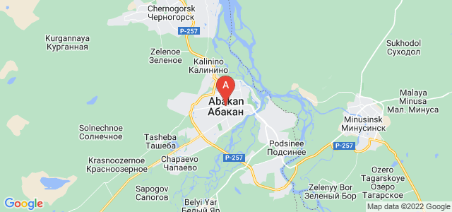 map of Abakan, Russia