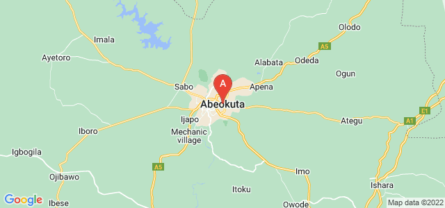 map of Abeokuta, Nigeria