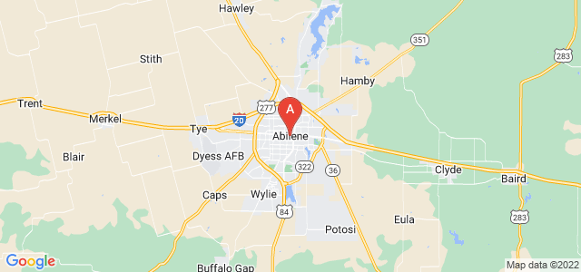map of Abilene, United States of America